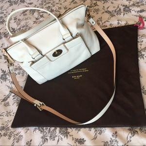 EUC white Kate Spade satchel w/crossbody strap